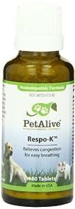 PetAlive Respo-K Tablets, 180 Count Bottle