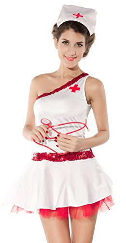 [Anmengte Halloween Party Cosplay Costume Nurse Lingerie Sets] (Masquarde Masks)