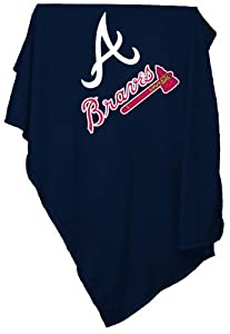 MLB Atlanta Braves Sweatshirt Tackle Twill Blanket by Logo