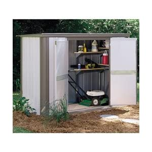 Click to buy Arrow Ezee Locker 8' x 3' Outdoor Storage Shed from Amazon!