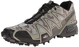 Salomon Men\'s Speedcross 3 Mountain Trail, Camo Titanium/Dark Titanium/Swamp, 10 M US