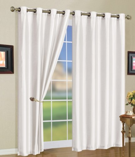 Cheap 5 Colors Mira Grommet Window Curtain Panels 58 X 108