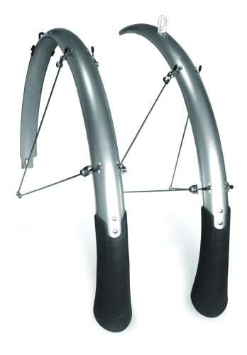 Planet Bike Cascadia Front and Rear Bicycle Fender Set with Mud Flaps