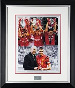 Steven Gerrard Hand Signed Framed Liverpool FC Print 600 Games + COA from MemorabiliaOutlet