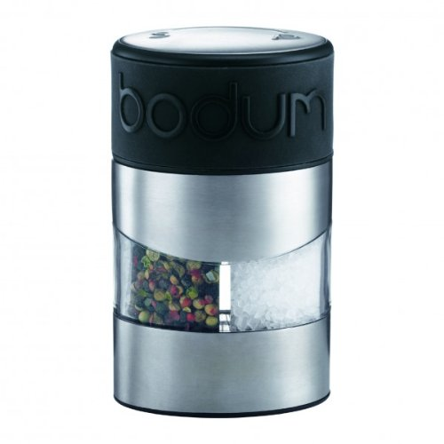 BODUM Twin Dual Salt and Pepper Grinder, Black