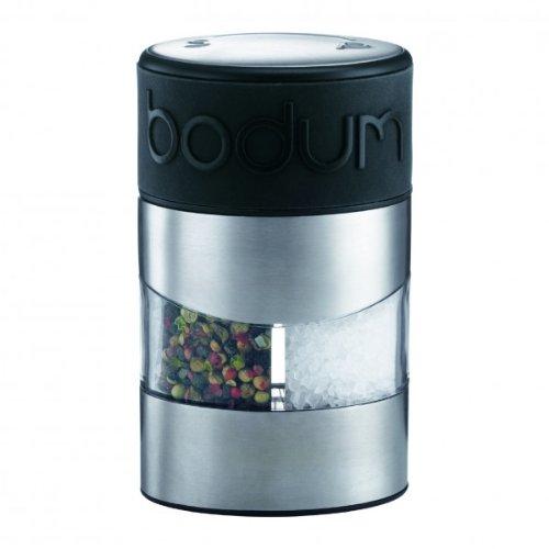 BODUM Twin Dual Salt and Pepper Grinder, Black