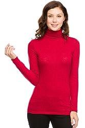 G2 Chic Women's Solid Long Sleeve Turtleneck Top