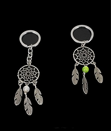Yueton Pack of 4 Handmade Dream Catcher Key Ring Key Chain Charm for Bag Hanging Ornament