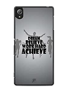 YuBingo Work Hard and Achieve Mobile Case Back Cover for Sony Xperia Z4