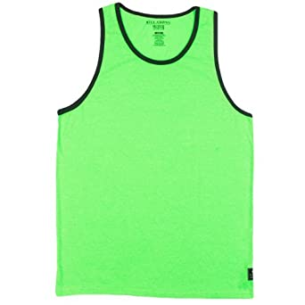 Billabong Men's Essential Ringer Tank, Neon Green Heather, XX-Large