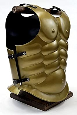 Armor Venue Brass Muscle Armor - Greek Breastplate One Size Fit All - Gold