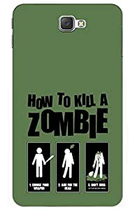 zombie Designer Printed Back Case Cover for Samsung On7 Pro