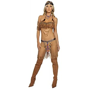 Sexy Cherokee Warrior Indian Girl Costume - Smallmedium