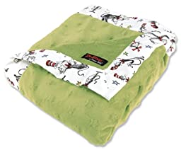 Trend Lab Dr. Seuss Receiving Blanket, Cat In The Hat Green