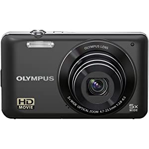 """Olympus  VG-120 14 MP Digital Camera , 5X Wide-Angle Optical Zoom (26mm), 3"""" LCD, (Black) (Old Model)"""