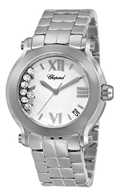 Chopard Women's 278477-3001 Happy Sport Round II Diamond White Dial Watch