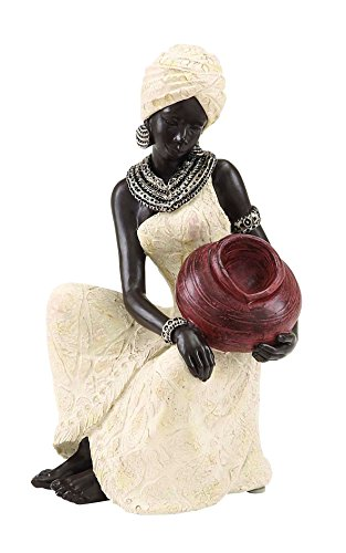 Benzara Table Top Polystone African Figure Sculpture, 10 by 6-Inch (Figure Sculpture compare prices)