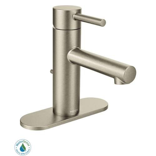 Moen 6190 Single Handle Single Hole Bathroom Faucet with from the Align Collecti, Brushed Nickel