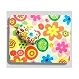 Computer Mouse Pad & Mouse Set- Colorful Flowers, France