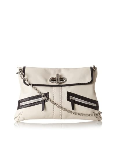 Carla Mancini Women's Haley Shoulder Bag, Off White As You See