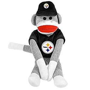 Pittsburgh Steelers 20'' Uniform Sock Monkey at 'Sock Monkeys'