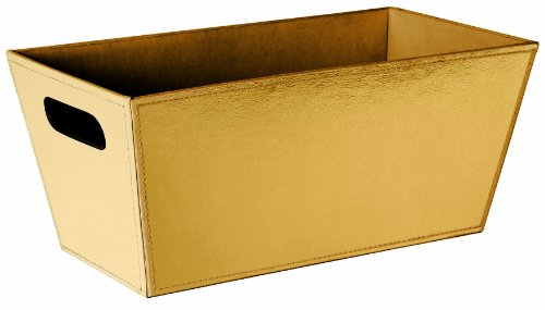 Wald Imports Faux Leather Sided Tote, 13.25-Inch, Gold (Fake Cheese For Display compare prices)