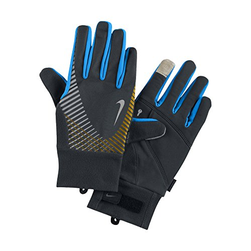 Nike Men's Storm-Fit Elite Running Gloves-Black/Blue