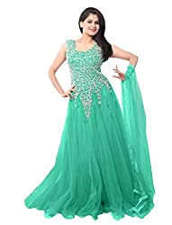 Ethnicbasket Women's Gown (BE234014E_Sea Green_Free Size)