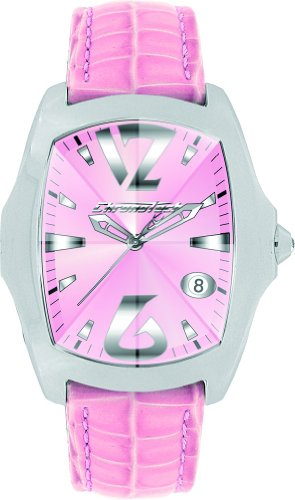 Chronotech Ladies Watch CT7896L/07 'Prisma Revolution' with Pink Leather Strap