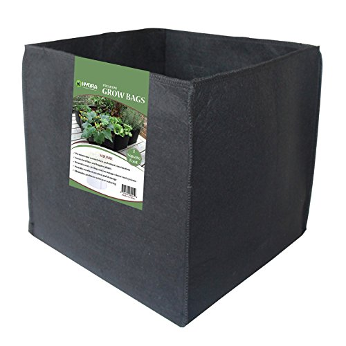 Grow Bags Square Foot Fabric Planter Raised Bed Aeration Container (Pack of 4) (Square Garden Pots compare prices)