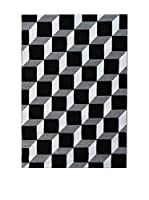 Contemporary Black & Blanco Alfombra Kubo