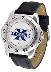 Xavier Musketeers Suntime Mens Sports Watch w/ Leather Band - NCAA College Athletics