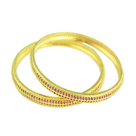 Nipuna Nipuna Red Gold Plated Bangle For Women (NI - BGGDADRD10-00031) (Multicolor)