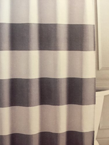 Tommy Hilfiger Cabana Stripe Shower Curtain  Gray and white 72 Curtains Outlet