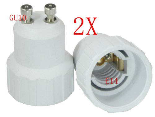4 Pack Gu10 To E14 Tungsten Halogen Cfl Lighting Lamp Bulb Converse Base Led Extend Adapter