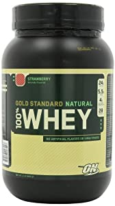 Optimum Nutrition 100% Whey Gold Standard Natural Whey, Strawberry, 2 Pound
