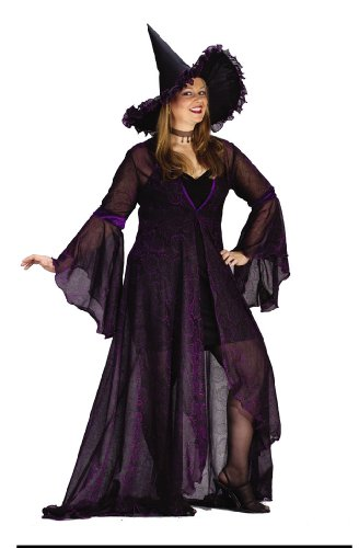 Witch Shimmer Rose Prpl Xl Halloween or Theatre Costume