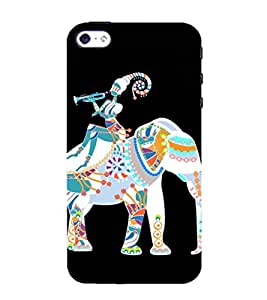 Ancient Elephant and Byugal 3D Hard Polycarbonate Designer Back Case Cover for Apple iPhone 4 :: Apple iPhone 4S
