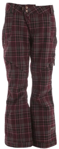 Cappel Wasted Ski Snowboard Pants Richwool Plaid Raisin Womens Sz L