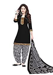 Taos Brand cotton dress materials for women womens dress materials cotton salwar suit New Arrival latest 2016 womens party wear Unstitched dress materials for women (513 summer__black and multicolour_freesize