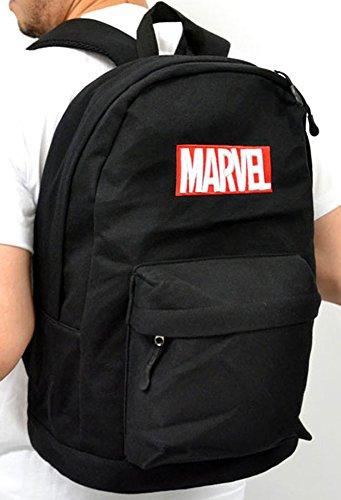 (マーベル) MARVEL BOXロゴ リュック おしゃれ バックパック リュックサック デイパック Free ブラック