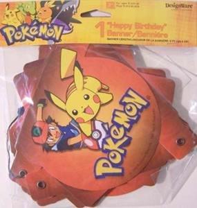DesignWare Pokemon Happy Birthday Hinged Banner - 1