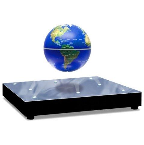 浮遊・回転型の地球儀。青色LEDで美しくライトアップ。 World Stage 3インチ Levitating Globe【並行輸入品】