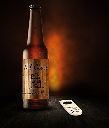 Lot de 24autocollants étiquette pour bouteille étiquette-Bonne Chance dans la nouvelle maison Décapsuleur inclus.
