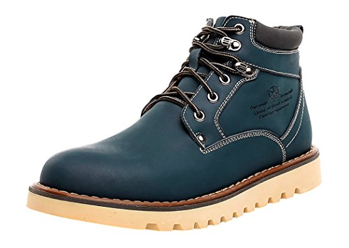 HTARCO Men's Fashion Breathable Work Utility Cowhide Leather Shoes