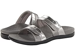Orthaheel Vionic With Orthaheel Technology Womens Shore Orthatic Slide Pewter Size 5