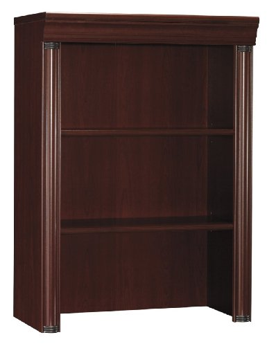 Bush Furniture Birmingham Executive Hutch for Lateral File, Harvest Cherry