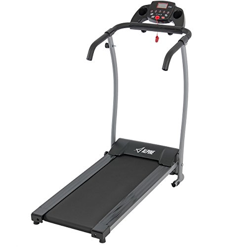 Find Bargain ALPINE© 1200W Folding Electric Treadmill Power Motorized Running Jogging Machine Black