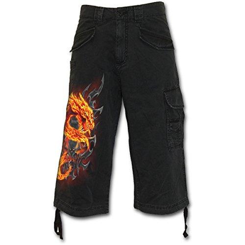 Spiral Fire Dragon Pantaloncini Vintage nero XXL