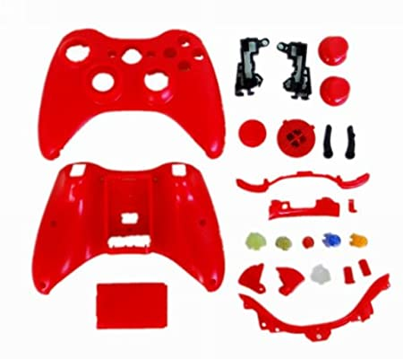 eFashion Full Housing Shell Case for XBOX 360 Wireless Controller Red